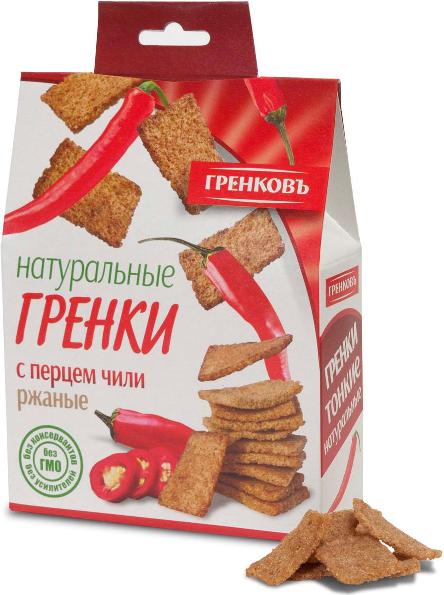Гренковъ Сухарики-гренки ржано-пшеничные с перцем чили, 70 г ого сухарики ванильные 250 г