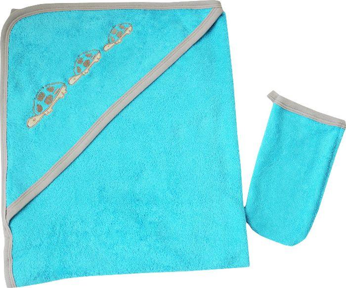 Клякса Комплект для купания цвет бирюзовый 80 x 100 см