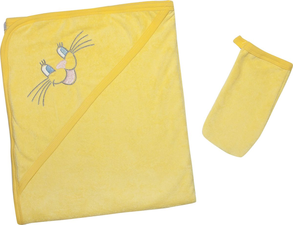 Клякса Комплект для купания цвет желтый 80 x 100 см