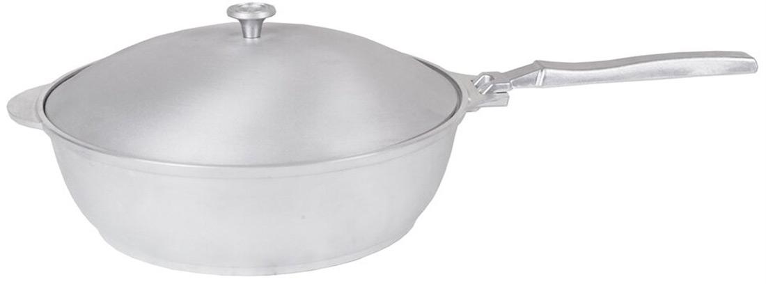 Сковорода-сотейник алюминиевая с крышкой. 260/75. с267