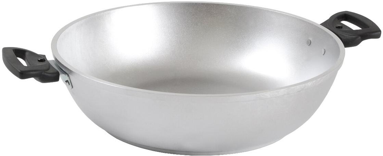 """Сковорода-сотейник """"Kukmara"""" без крышки. Диаметр 30 см.Отлично подойдёт для готовки первых блюд - супа или рассольника, в нём можно также тушить мясо, овощи, пригодится он и для жарки, и приготовления соуса.- основание из литого алюминия толщиной от 4,5 до 6мм;- экологически безопасная;- надежная и долговечная, изделия не подвергаются деформации в процессе эксплуатации;- быстрое и равномерное распределение тепла, длительное сохранение тепла;- простая, удобная посуда с нестареющим дизайном;"""