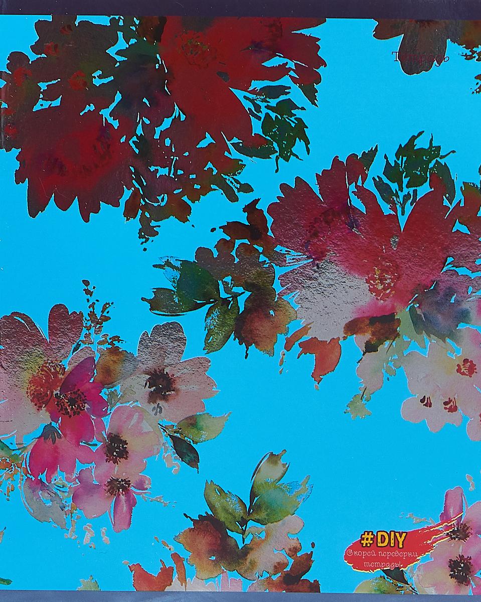 Unnika Land Тетрадь DIY Collection Цветочное великолепие 48 листов в клетку цвет голубой unnika land тетрадь полет идей цвет коралловый 48 листов в клетку