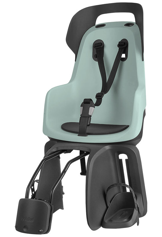 Велокресло детское заднее Bobike Go frames, крепление на раму велосипеда, цвет: светло-зеленый