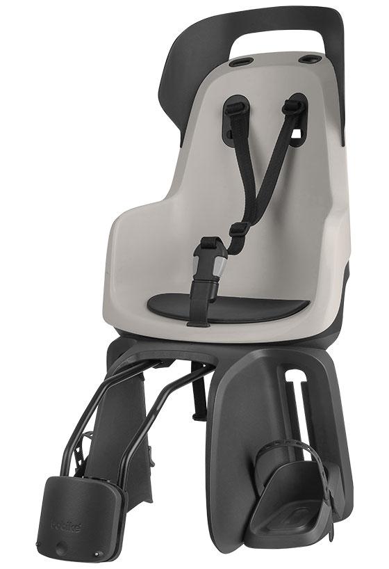 Велокресло детское заднее Bobike Go frames, крепление на раму велосипеда, цвет: светло-серый