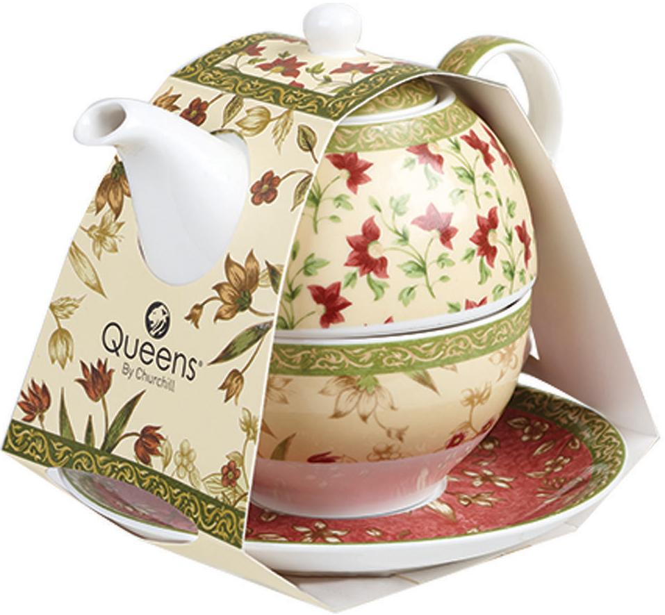Коллекция КЛАССИК сочетает традиционный, элегантный и классический английский стиль. Сдержанные традиционные спокойные тона. В наборе чайник 400мл, блюдце и кружка 220мл.