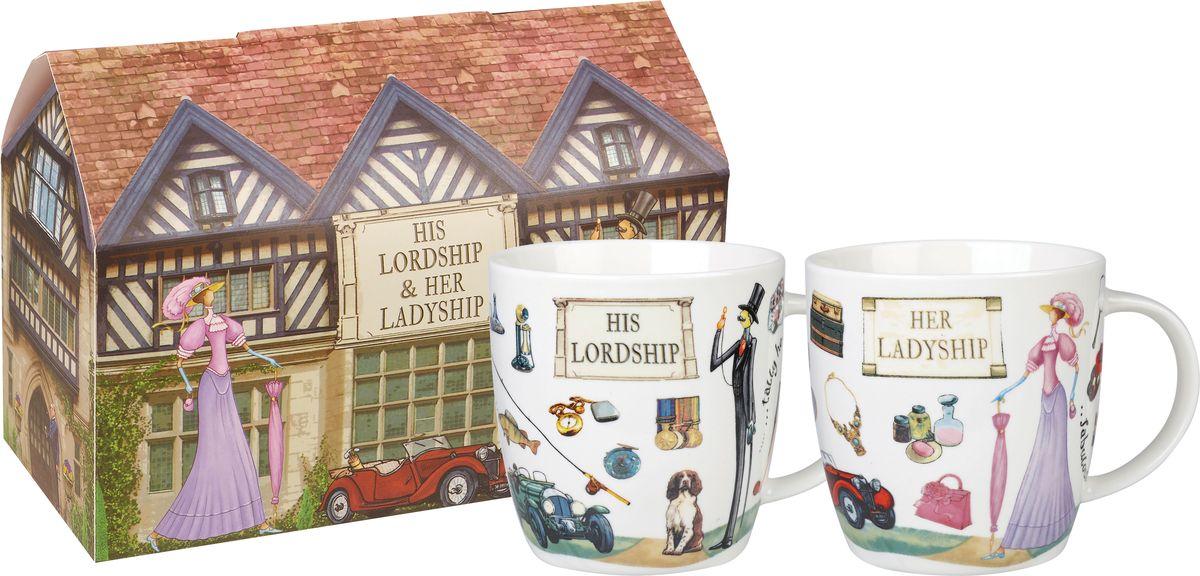 """Набор Churchill """"Лорд и Леди"""" состоит из четырех кружек, выполненных из высококачественного фарфора с глазурованным покрытием. Изделия станут незаменимыми для чаепития, порадуют вас практичностью, высоким качеством и стильным дизайном. Оригинальный набор Churchill """"Лорд и Леди"""" отлично дополнит коллекцию вашей кухонной посуды и станет хорошим подарком для ваших друзей и близких. Диаметр кружки (по верхнему краю): 10 см. Высота: 9,5 см.Объем кружки: 400 мл."""