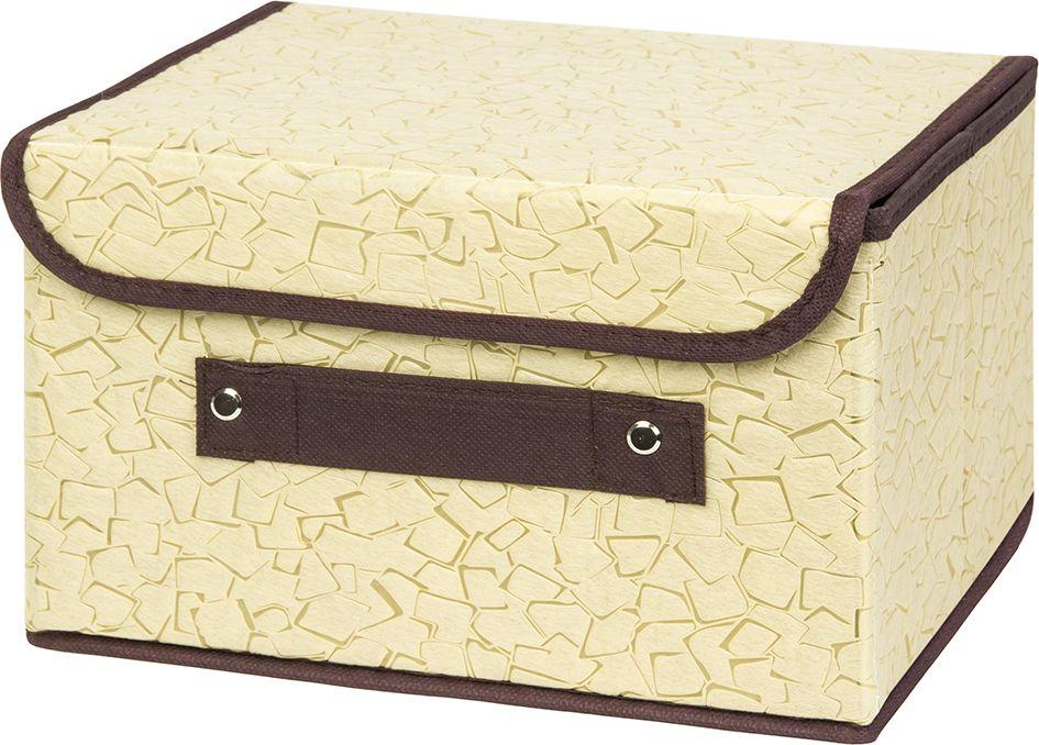 Кофр складной EL Casa Песочная мозайка, для хранения, 26 x 20 x 16 см корзинки el casa сумочка интерьерная для хранения натюрморт с фиалками