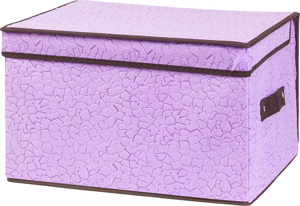 Кофр складной EL Casa Сиреневая мозайка, для хранения, 40 x 30 x 25 см кофр для хранения el casa звезды складной цвет розовый 40 x 30 x 25 см