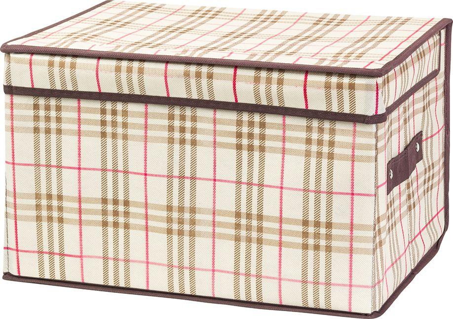 Кофр складной EL Casa Шотландская клетка, для хранения, 40 x 30 x 25 см кофр для хранения el casa соты складной цвет зеленый 40 x 30 x 25 см