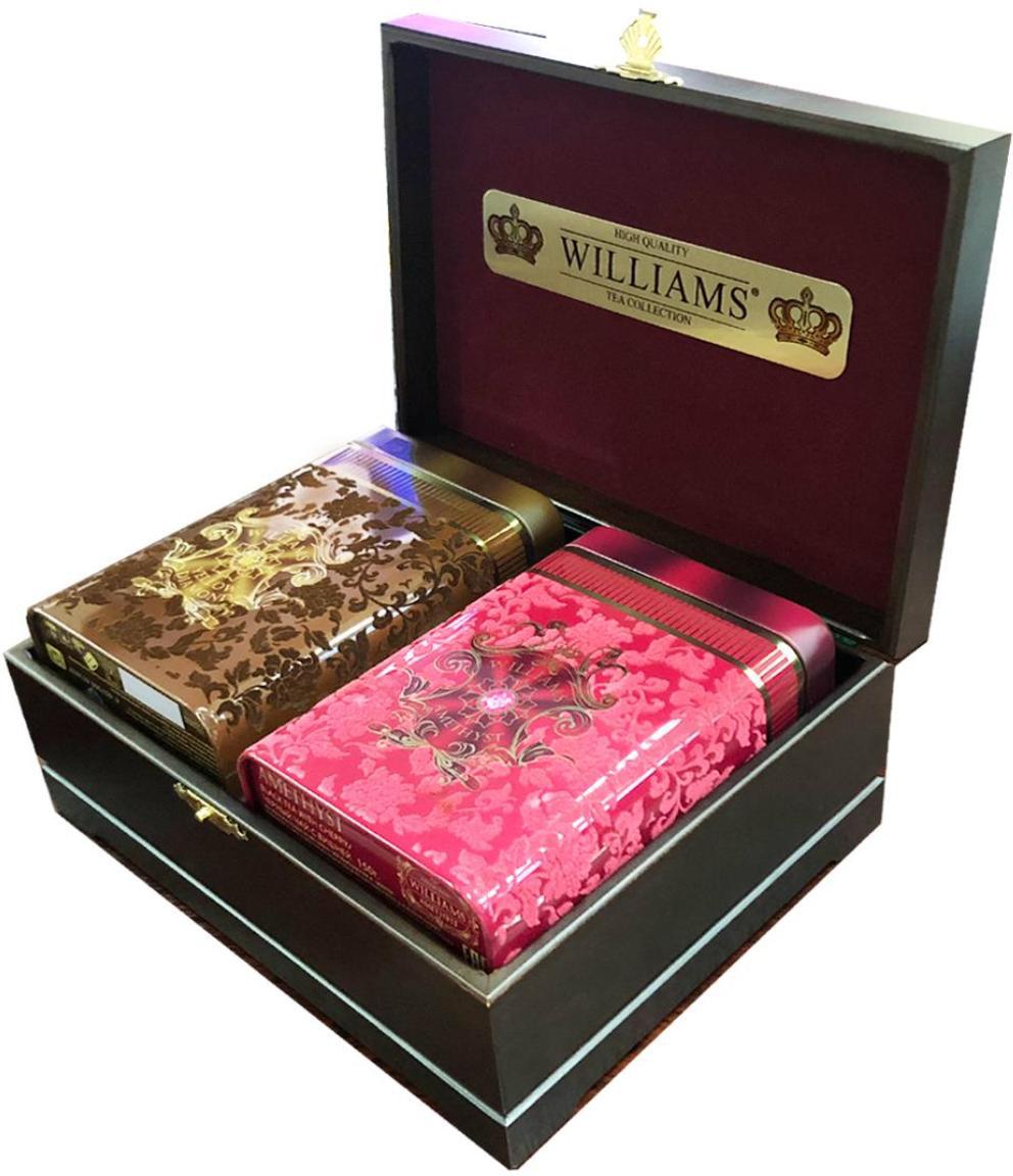 Williams Бархатная шкатулка чайный набор (вишня), 2 шт по 150 г покрывало antonio salgado покрывало timeless 240х270 см
