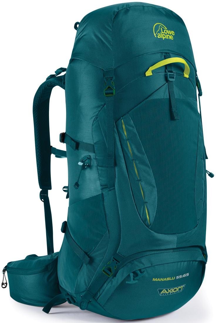 Рюкзак туристический Lowe Alpine Manaslu 55:65, цвет: бирюзовый, 65 л рюкзак туристический trek planet colorado 65 цвет синий темно синий 65 л