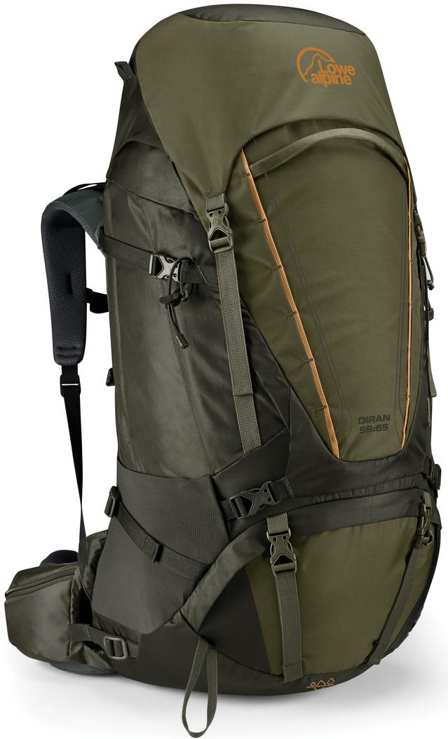 Рюкзак туристический Lowe Alpine Diran 55:65 L-XL, цвет: темно-оливковый, 65 л yuerlian оливковый l