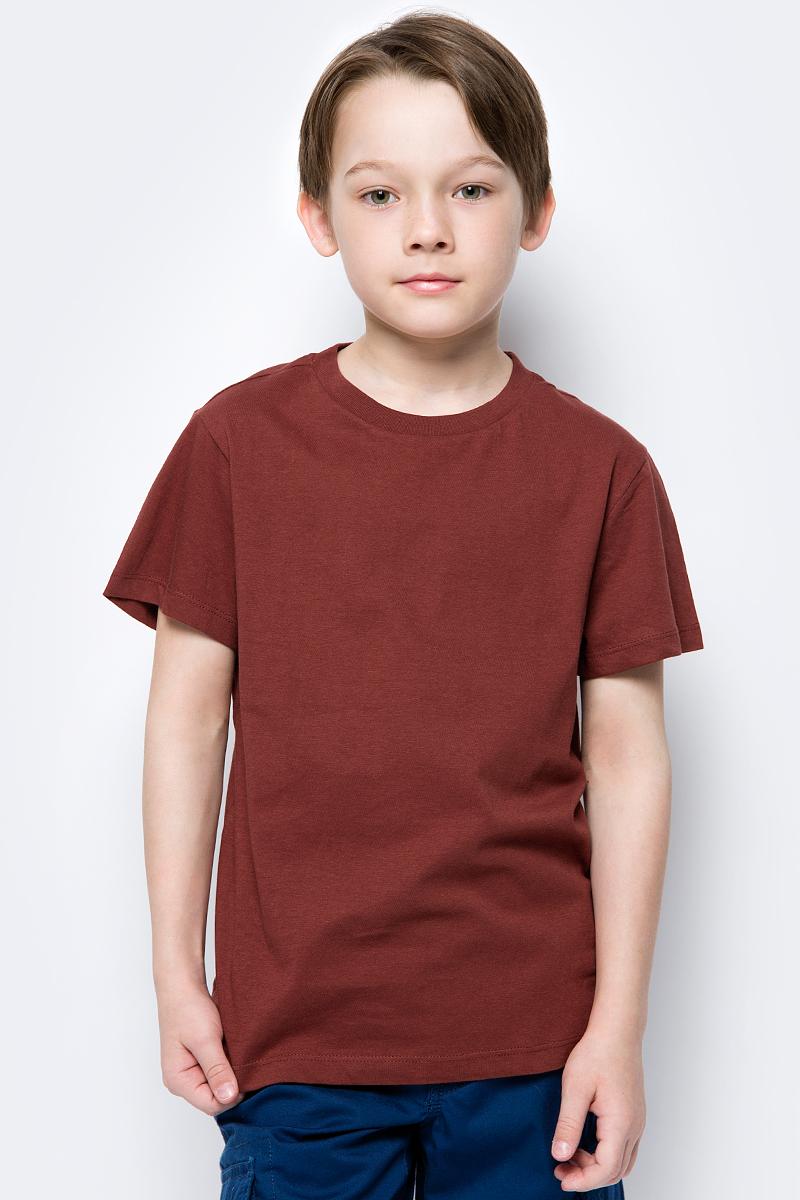 все цены на Футболка для мальчика Sela, цвет: бордовый. Ts-811/297-8224. Размер 128 онлайн