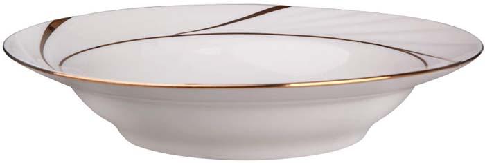 Тарелка суповая от Добрушского фарфорового завода выполнена из фарфора. Подходит для использования в посудомоечной машине. Не использовать в СВЧ печи.