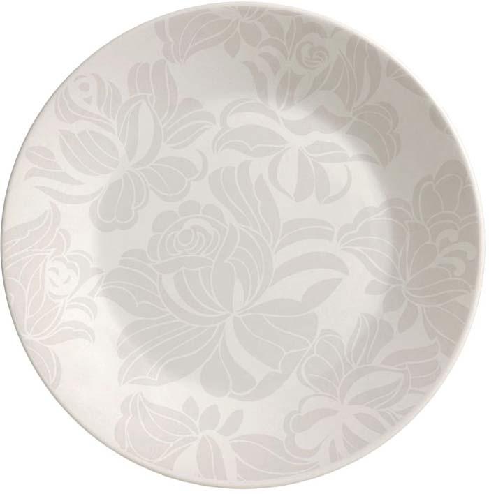 Тарелка десертная Biona Бланк Грей, 19 см1643AD89Десертная тарелка бразильского производства Biona, выполненная из высококачественной керамики, несомненно, станет украшением как праздничного стола, так и повседневной сервировки. Подходит для использования в посудомоечной машине и СВЧ печи.