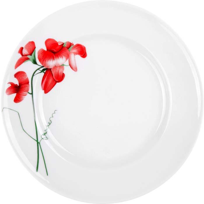 """Тарелка десертная от Добрушского фарфорового завода """"Рубин"""" выполнена из фарфора.Подходит для использования в посудомоечной машине и СВЧ печи."""