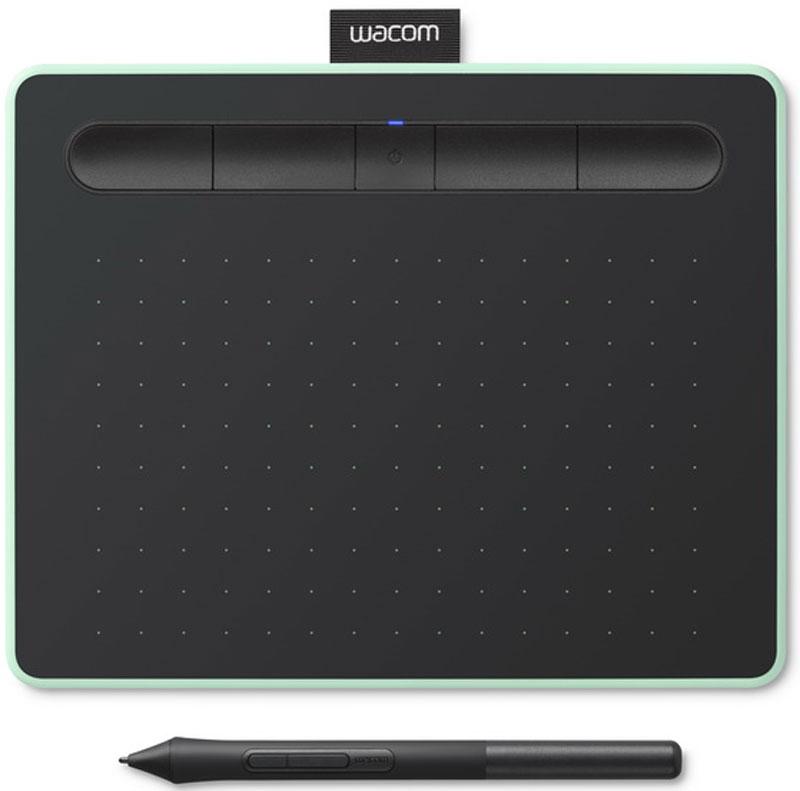 Wacom Intuos S Bluetooth Pistachio CTL-4100WLE-N, Black графический планшет