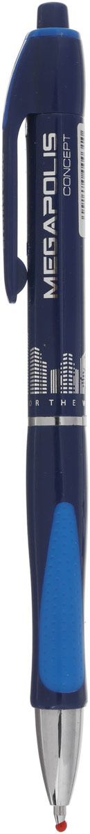Erich Krause Ручка шариковая Megapolis Concept EK 31 синяя цвет корпуса синий erich krause ручка шариковая megapolis concept ek 31 синяя цвет корпуса синий