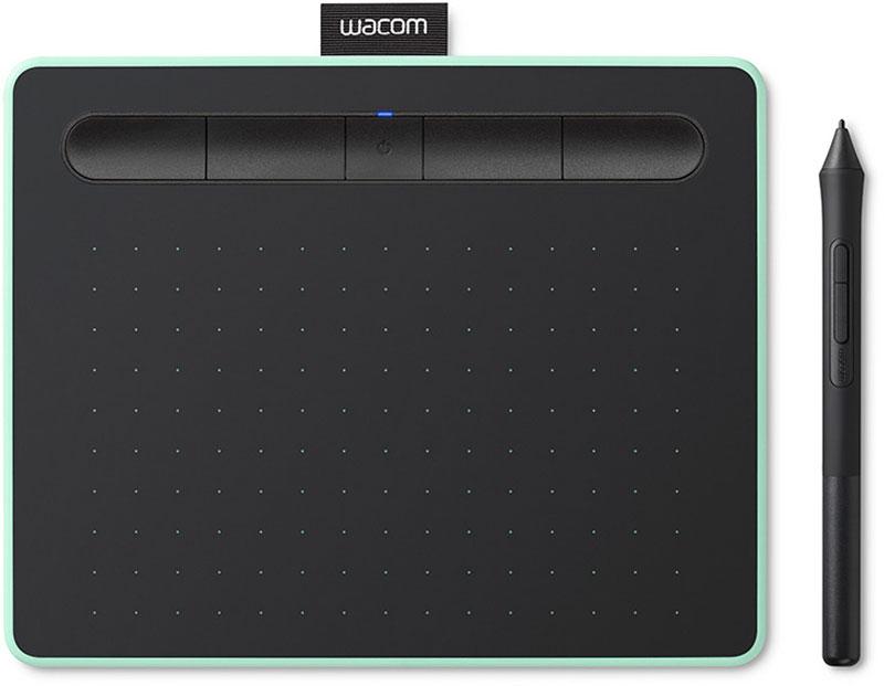 Wacom Intuos M Bluetooth Pistachio CTL-6100WLE-N, Black графический планшет