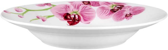 """Тарелка суповая """"Розовые орхидеи"""" от Miolla представляет собой традиционную классику, выполненную в нежных цветовых решениях и изысканном дизайне.Подходит для любых событий и торжеств.Подходит для использования в СВЧ печи и посудомоечной машине. Не использовать на открытом огне."""