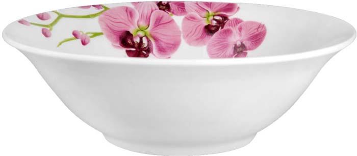 """Коллекция """"Розовые орхидеи"""" от Miolla представляет собой традиционную классику, выполненную в нежных цветовых решениях и изысканном дизайне.Коллекция включает в себя классическую линейку: тарелка обеденная 23 см, суповая тарелка 20 см, десертная тарелка 19 см, салатник 15 см, салатник 23 смПодходит для использования в микроволновой печи, можно мыть в посудомоечной машине.Подходит для любых событий и торжеств. Не использовать на открытом огне."""