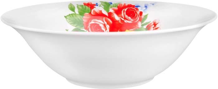 """Коллекция """"Цветы"""" и """"Цветы 2"""" от Miolla представляет собой традиционную классику, выполненную в нежных цветовых решениях и изысканном дизайне. Коллекция включает в себя линейку: суповая тарелка 20 см, салатник 23 см, Подходит для использования в микроволновой печи, можно мыть в посудомоечной машине.Подходит для любых событий и торжеств.Не использовать на открытом огне."""