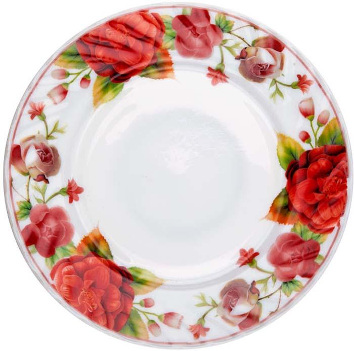 """Тарелка десертная """"Камелия"""" от Miolla представляет собой традиционную классику, выполненную в нежных цветовых решениях и изысканном дизайне.Подходит для использования в микроволновой печи, можно мыть в посудомоечной машине."""