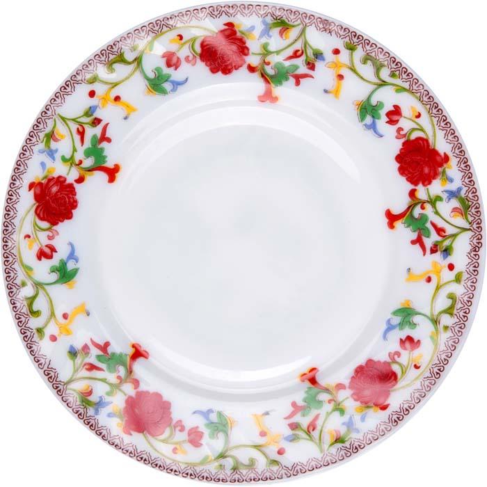 """Тарелка десертная """"Полянка"""" от Miolla представляет собой традиционную классику, выполненную в изысканном дизайне.Подходит для использования в микроволновой печи, можно мыть в посудомоечной машине."""