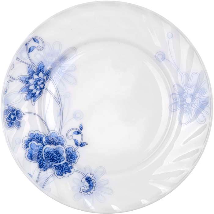 """Тарелка обеденная Miolla """"Изящество"""" изготовлена из стеклокерамики и подходит для повседневного использования. Такая тарелка изысканно украсит сервировку как обеденного, так и праздничного стола.  Всегда актуальный дизайн подойдет для любого случая: и для обеда с друзьями, и для праздничного застолья.  Можно нагревать в микроволновой печи и мыть в посудомоечной машине."""