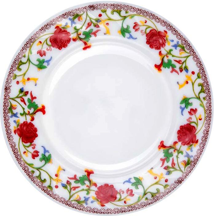 """Тарелка обеденная Miolla """"Полянка"""" изготовлена из стеклокерамики и подходит для повседневного использования. Такая тарелка изысканно украсит сервировку как обеденного, так и праздничного стола.  Всегда актуальный дизайн подойдет для любого случая: и для обеда с друзьями, и для праздничного застолья.  Можно нагревать в микроволновой печи и мыть в посудомоечной машине."""