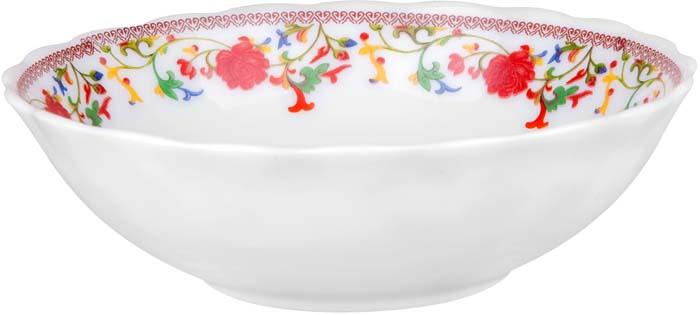 """Тарелка суповая """"Полянка"""" от Miolla представляет собой традиционную классику, выполненную в нежных цветовых решениях и изысканном дизайне.Подходит для любых событий и торжеств.Подходит для использования в посудомоечной машине и СВЧ печи. Не использовать на открытом огне."""