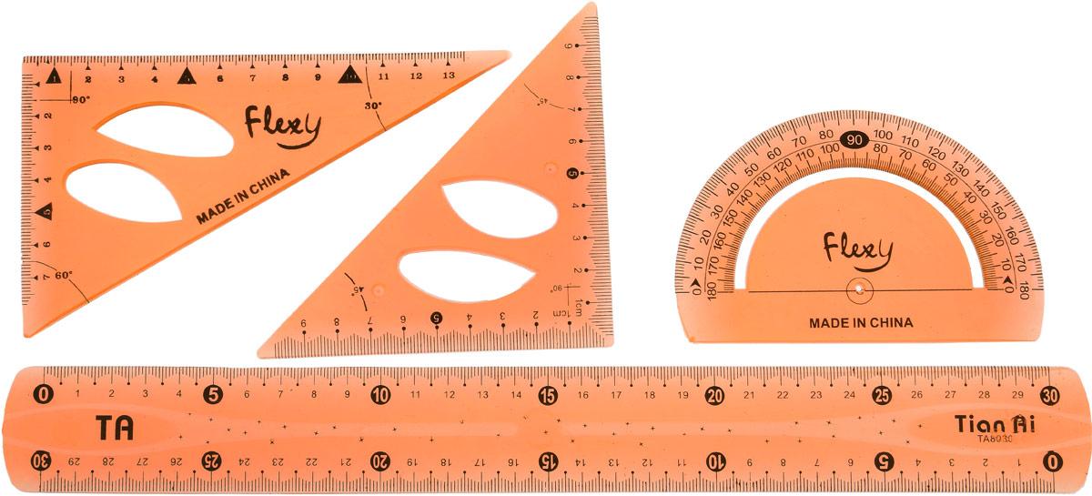 Геометрический набор гибкий цвет оранжевый 4 предмета 1302060