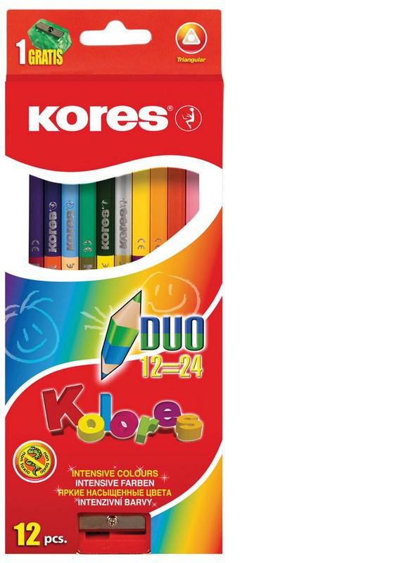 Kores Набор цветных карандашей с подарком карандаши цветные kores 48 цветов 24шт 128907