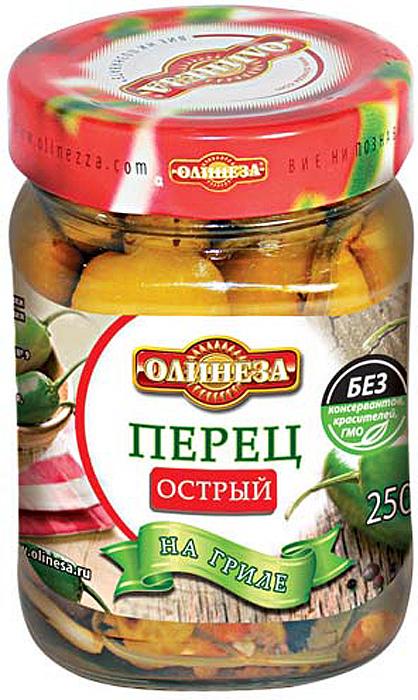 Олинеза Перец острый на гриле, 220 г veselina перец сладкий на гриле 540 г