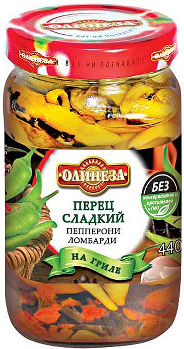 Олинеза Перец сладкий пепперони ломбарди на гриле, 450 г олинеза лютеница домашняя 260 г