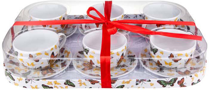 Чайный набор от Miolla на 6 персон изготовлен из высококачественного фарфора. Данный набор имеет строгий дизайн, идеально подойдет как для дома, так и для кафе. Можно использовать в домашнем стиле лофт. Удобный, с классическим дизайном, чайный набор не только украсит сервировку стола, но и поднимет настроение и превратит процесс чаепития в одно удовольствие. Набор состоит из 6-ти чашек и 6-ти блюдец, упакованных в подарочную коробку. Изделия легко и просто мыть. Чайный набор прекрасно подойдет в качестве подарка для родных и друзей. Объем чашек - 250 млПодходит для использования в СВЧ печи и посудомоечной машине. Не использовать на открытом огне.