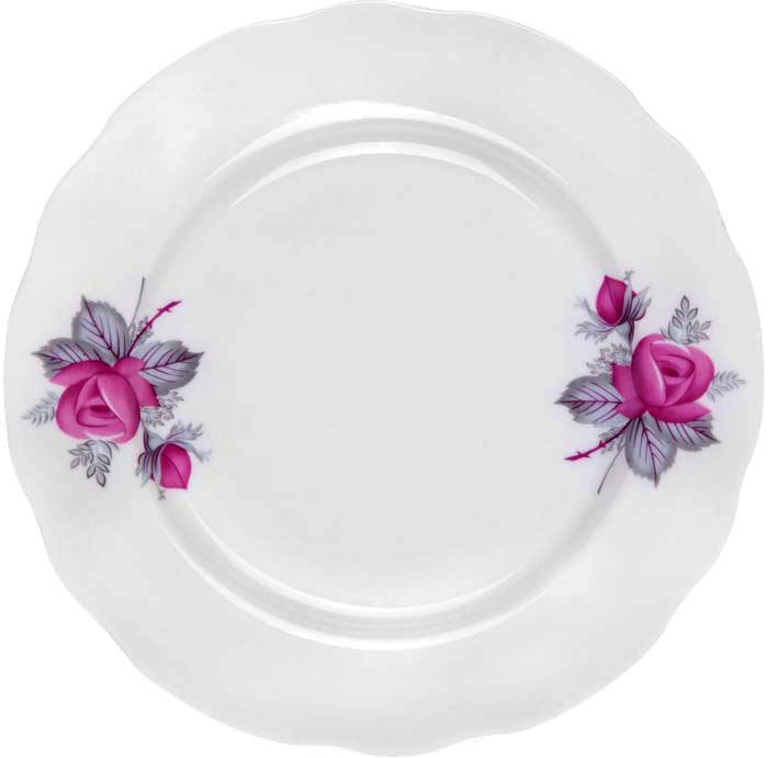 Тарелка обеденная от Дулево выполнена из фарфора. Подходит для использования в посудомоечной машине и СВЧ печи.