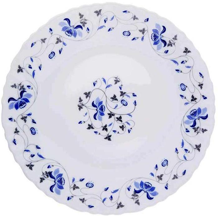 """Тарелка обеденная Miolla """"Ксения"""" изготовлена из стеклокерамики и подходит для повседневного использования. Такая тарелка изысканно украсит сервировку как обеденного, так и праздничного стола.  Всегда актуальный дизайн подойдет для любого случая: и для обеда с друзьями, и для праздничного застолья.  Можно нагревать в микроволновой печи и мыть в посудомоечной машине."""