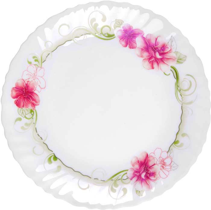 """Тарелка обеденная Miolla """"Гренадин"""" изготовлена из стеклокерамики и подходит для повседневного использования. Такая тарелка изысканно украсит сервировку как обеденного, так и праздничного стола.  Всегда актуальный дизайн подойдет для любого случая: и для обеда с друзьями, и для праздничного застолья.  Можно нагревать в микроволновой печи и мыть в посудомоечной машине."""
