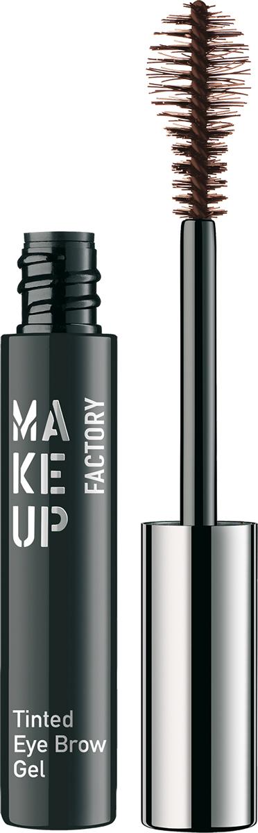 Make up Factory Гель-фиксатор для бровей Tinted Eye Brow Gel №03, цвет: темно-коричневый, 6 мл база под макияж make up factory clear eye brow gel