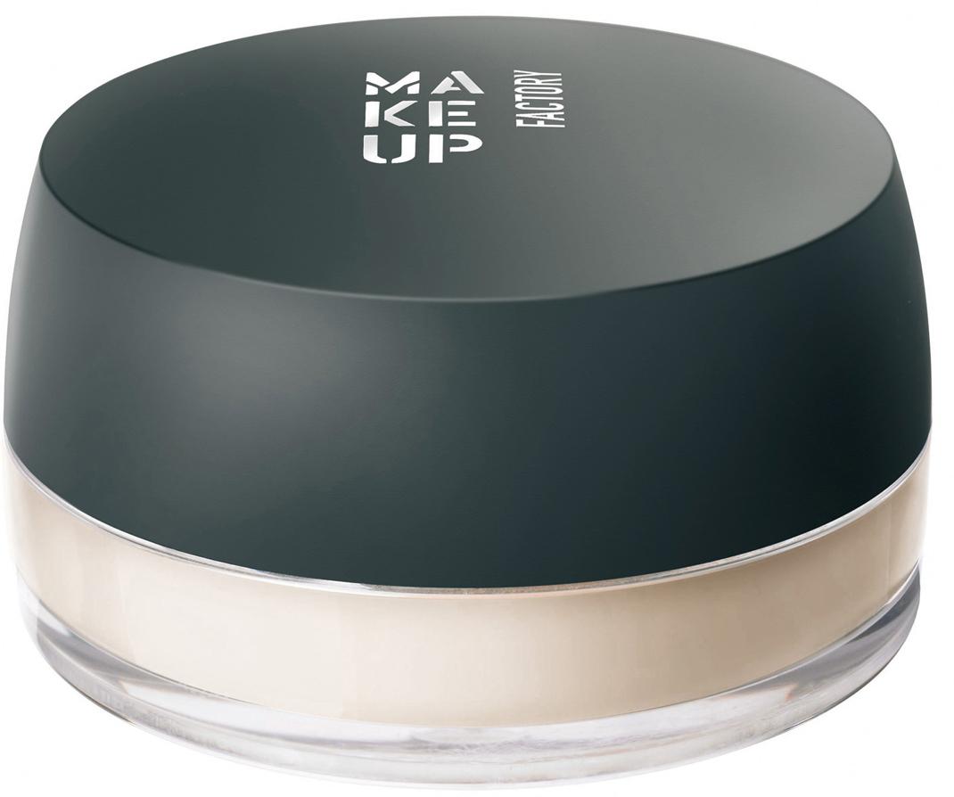 Make up Factory Рассыпчатая фиксирующая пудра Fixing Powder, цвет: прозрачный светло-бежевый, 8 г