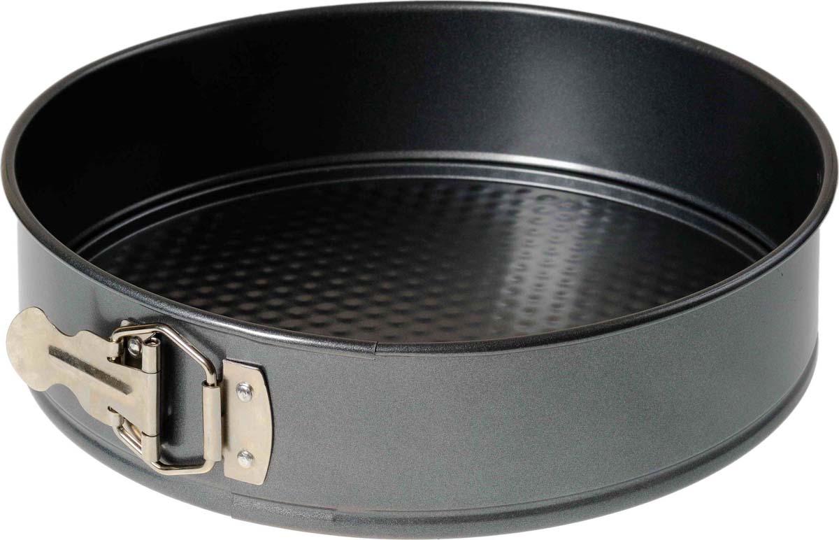 Большая разъемная форма для выпечки, позволяет вынимать пирог не повреждая его. Имеет классическое антипригарное покрытие черного цвета. Подходит для мытья в посудомоечной машине.