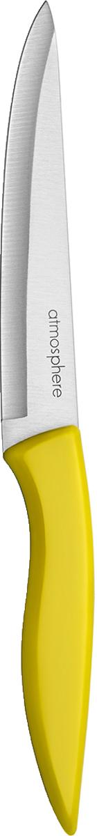 Универсальный нож с длиной лезвия 12 см, удобен для нарезки практически любых продуктов. Не требует частой заточки что, несомненно, экономит время. Нож имеет оригинальную ручку из цветного пластика, что придает внешнему виду изделия оригинальности. Подходит для мытья в посудомоечной машине.