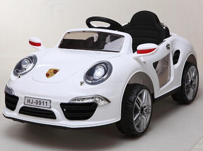 1TOY Электромобиль Порше 911 цвет белый
