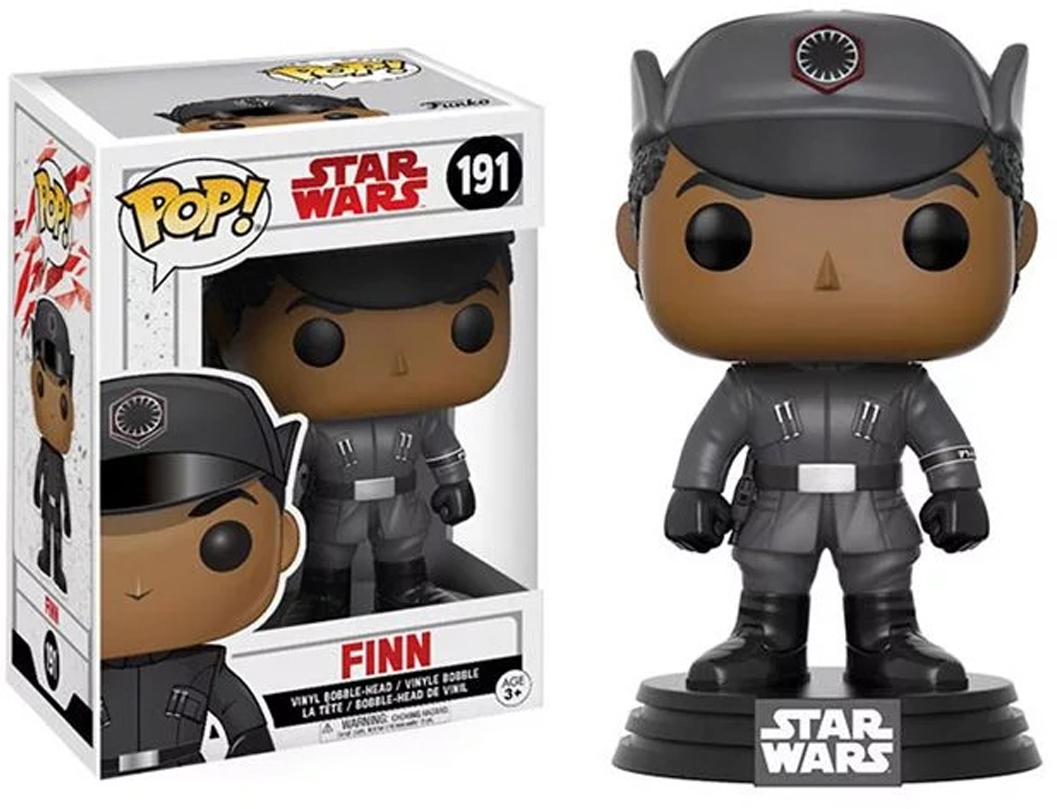 Funko POP! Bobble Фигурка Star Wars E8 TLJ Finn (POP 3) 14744 [quanpapa] new genuine funko pop adventure time cake 55 model action figurine doll car decoration kids toys