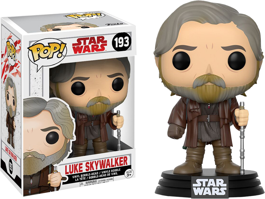 Funko POP! Bobble Фигурка Star Wars E8 TLJ Luke Skywalker (POP 4) 14745 [quanpapa] new genuine funko pop adventure time cake 55 model action figurine doll car decoration kids toys