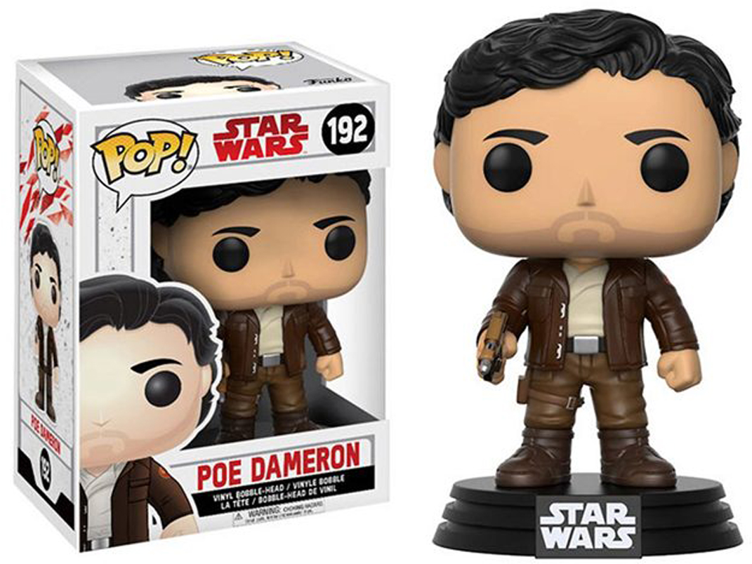 Funko POP! Bobble Фигурка Star Wars E8 TLJ Poe Dameron (POP 6) 14747 [quanpapa] new genuine funko pop adventure time cake 55 model action figurine doll car decoration kids toys
