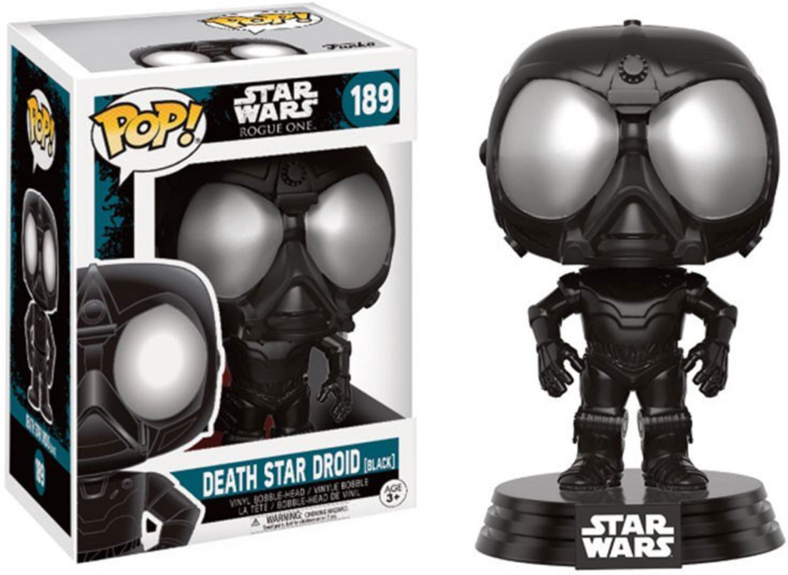 Funko POP! Bobble Фигурка Star Wars Rogue One Death Star Droid (Black) 14877 фигурка funko pop star wars rogue one – young jyn erso bobble head 9 5 см