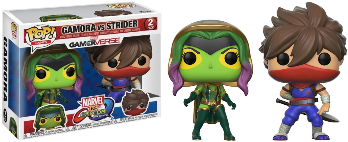 Funko POP! Vinyl 2-Pack Фигурка Capcom vs Marvel Gamora vs Strider 22776 фигурка funko pop bobble marvel black panther