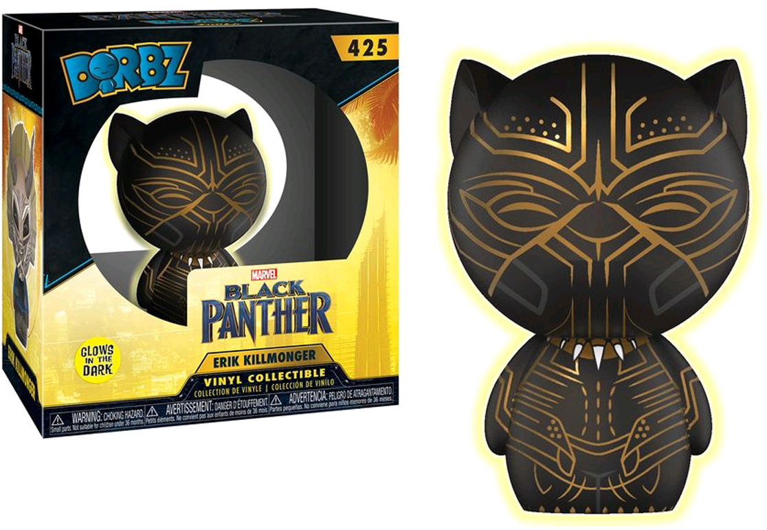 Funko Dorbz Фигурка Marvel Black Panther Killmonger Panther GITD 24592 фигурка funko pop bobble marvel black panther warrior falls